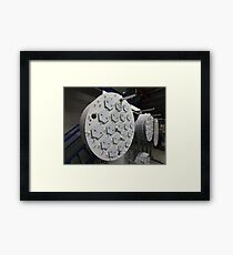 production  LED lamps Framed Print