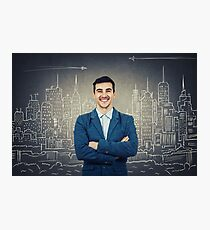 confident architect smiling Photographic Print