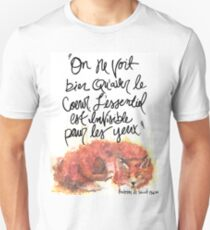 The Little Prince Quote, Fox Unisex T-Shirt