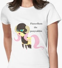 BBFFF Style Fluttershy, Skyrim version Womens Fitted T-Shirt