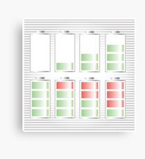 Battery Icon Canvas Print