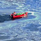 Red Boat in Blue Ice by Shulie1