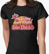 Anchorman - You Stay Classy! San Diego Dark variant Womens Fitted T-Shirt