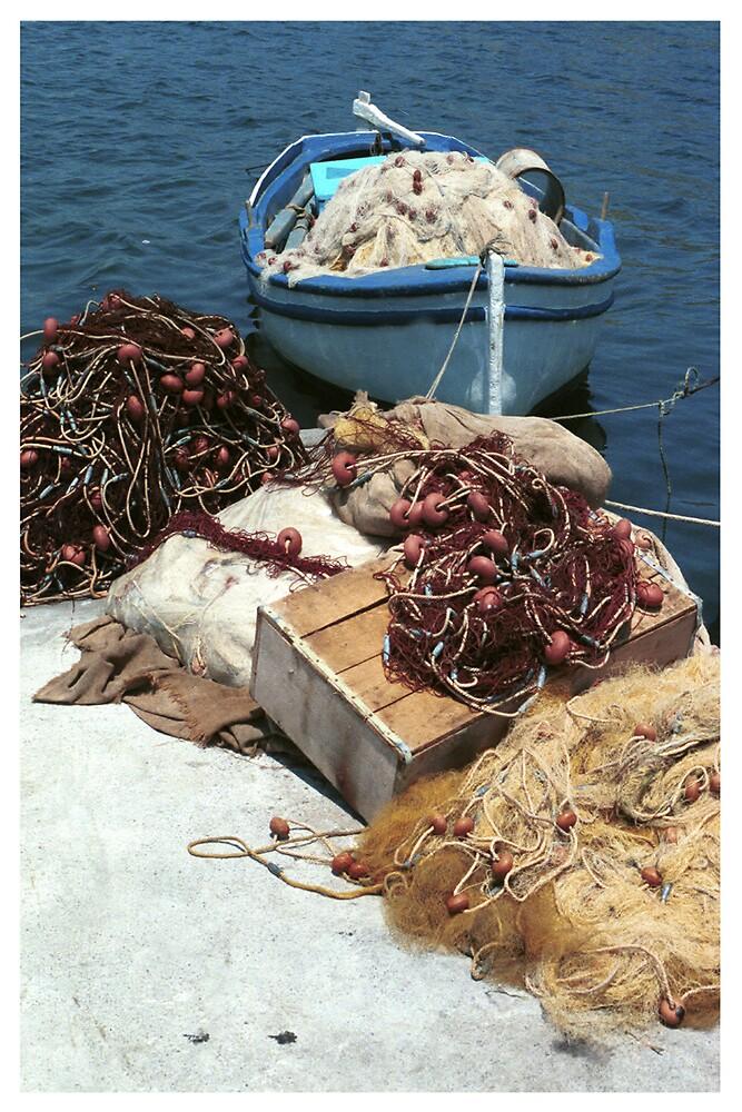 Greek Fishing Boat by Dede