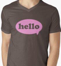 Hello! Men's V-Neck T-Shirt