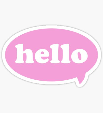 Hello! Sticker