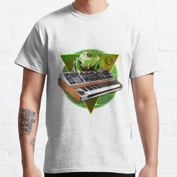 Frog on Synthesizer in Space Classic T-Shirt