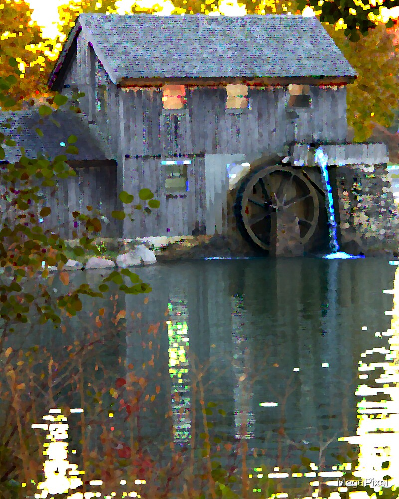 Mill on Pond in Rockford by MegaPixel