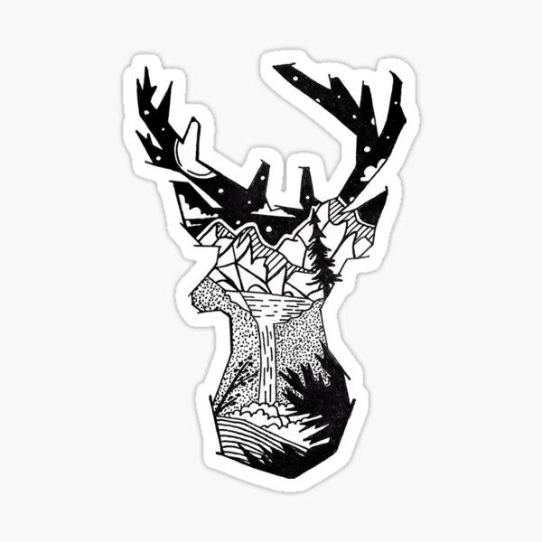 Wilderness Deer Sticker