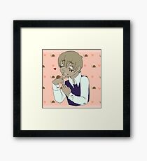 Snail Love Sticker Framed Print