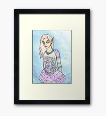 elf princess drawing 03/22/17 Framed Print