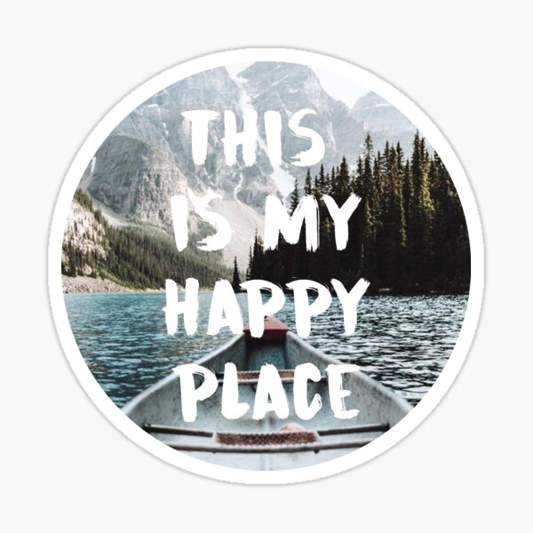 this is my happy place 6 Sticker