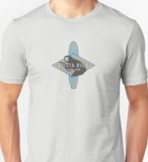 Costa Rica Surfing Sloth Logo Unisex T-Shirt