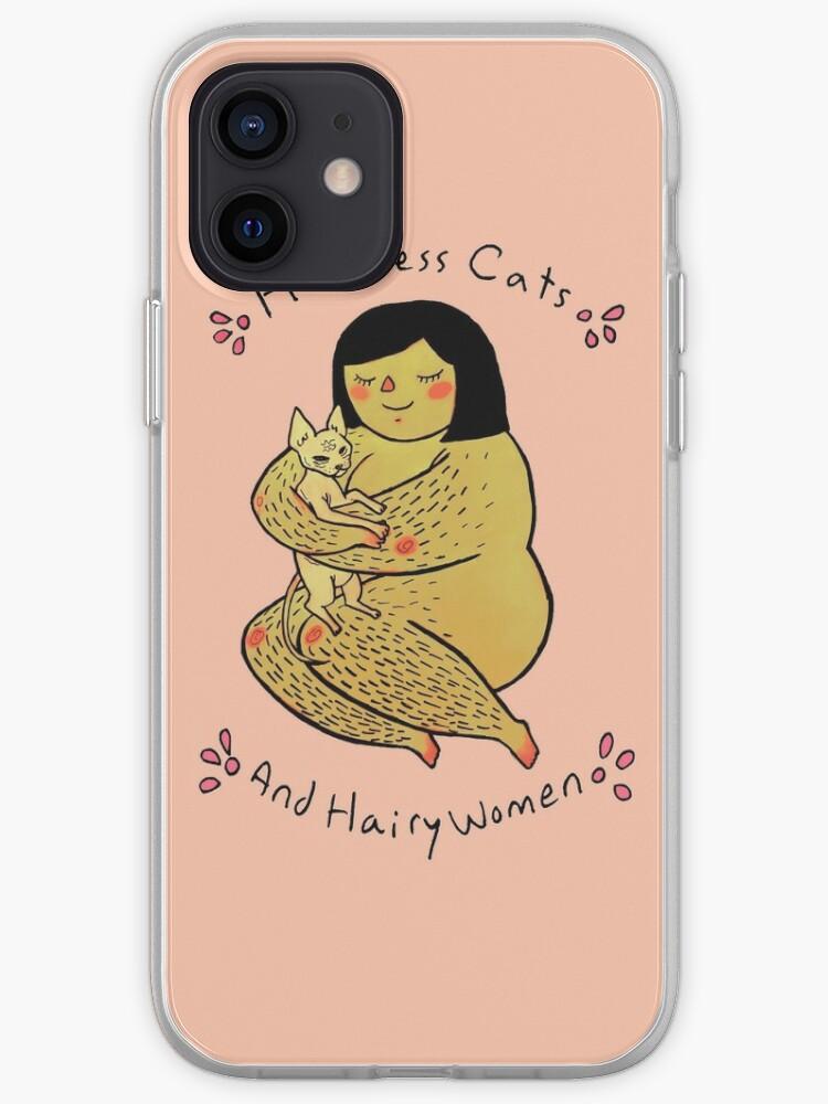 Chats sans poils et femmes poilues | Coque iPhone