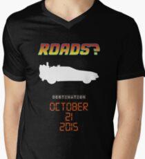 Back to the future - Roads? Men's V-Neck T-Shirt