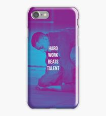 HARD WORK BEATS TALENT BRAZILIAN JIUJITSU PHOTOGRAPHY iPhone Case/Skin