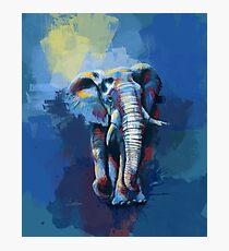 Elephant Dream - elephant illustration, animal painting Photographic Print