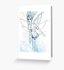 blue fairy girl drawing 03/22/17 Greeting Card