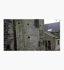 Exploring abandoned mill exterior Photographic Print