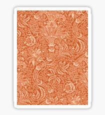 William Morris Indian, Coral Orange and Peach Sticker