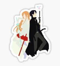 Asuna Kirito Inspired Anime Shirt Sticker