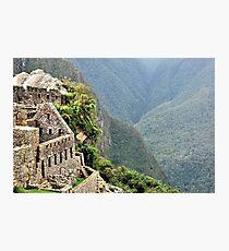 Architecture in Machu Picchu Photographic Print
