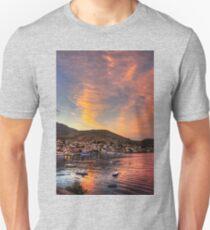 Setting Sun over Nimborio Unisex T-Shirt