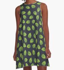 Hop-Muster A-Linien Kleid