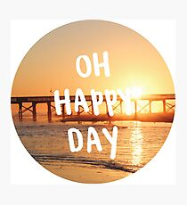 oh happy day sunset Photographic Print
