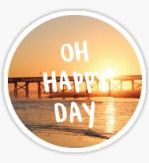 oh happy day sunset Sticker