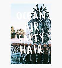 ocean air salty hair pineapple fountain Photographic Print