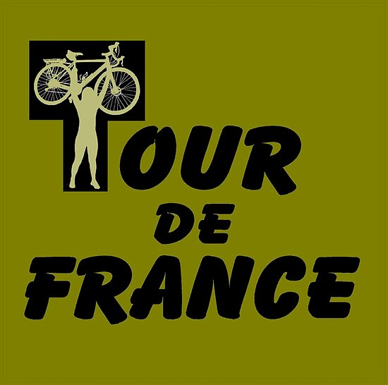 TOUR DE FRANCE: Victory Bicycle Race Print by posterbobs