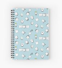 Tooth pattern Spiral Notebook