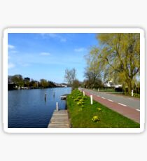 Spring at the River Vecht Sticker