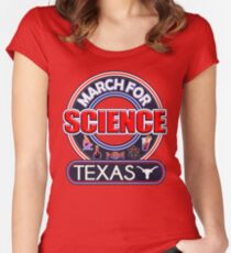 March for Science TEXAS 2017 Women's Fitted Scoop T-Shirt