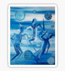 Blue Dance Celebration Sticker