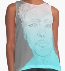 Bust (Colored Gradient Variation) Contrast Tank