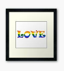 LOVE EVERYONE... Framed Print