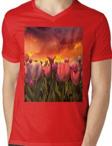 Pastel Tulips In Spring Time  Mens V-Neck T-Shirt