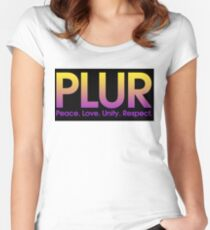 PLUR (Peace. Love. Unity. Respect.) Women's Fitted Scoop T-Shirt