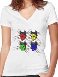 Pop art, Wolverine, Logan, Superhero, comic Women's Fitted V-Neck T-Shirt