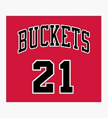 21 Buckets a Photographic Print