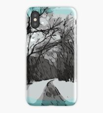 Out For a Walk - Winter Scene iPhone Case/Skin