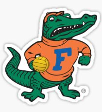 UF fighting gator holding water polo ball Sticker