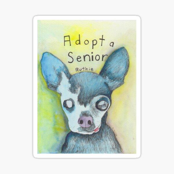 Adopt a Senior, Ruthie, from Adopt a Dog Series.  Sticker