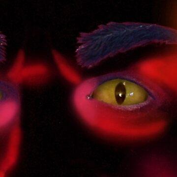 Demonic Eyes Sticker by BryanKSmith
