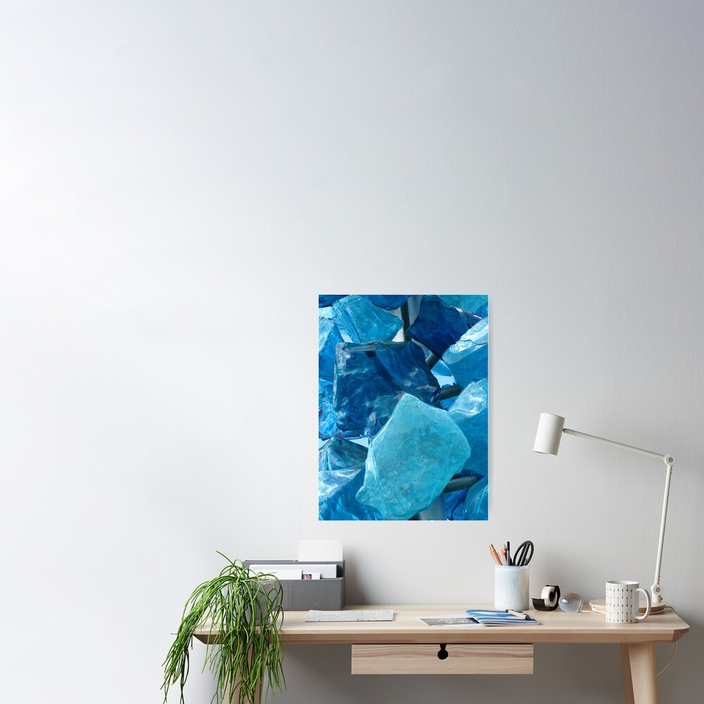Blue Glass #1 Poster