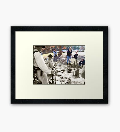 Ghosts of the Past-Living History Framed Print