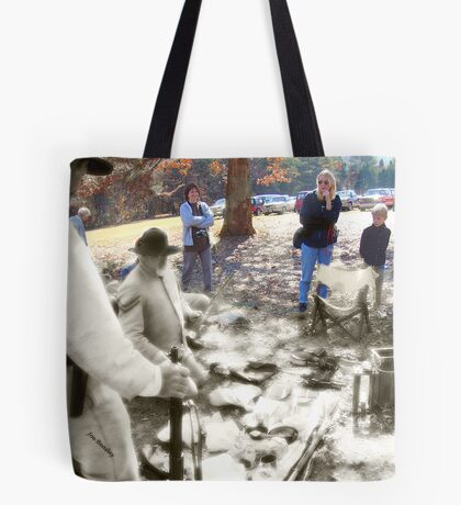 Ghosts of the Past-Living History Tote Bag