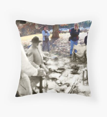 Ghosts of the Past-Living History Throw Pillow
